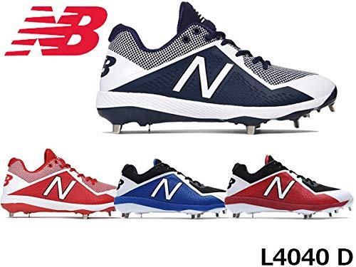 17FW NewBalance ニューバランスシューズ 野球 スパイク 埋め込み金具 ベースボール CLEATS (メンズ) L4040 BB4:BLACK/BLUE 29.5