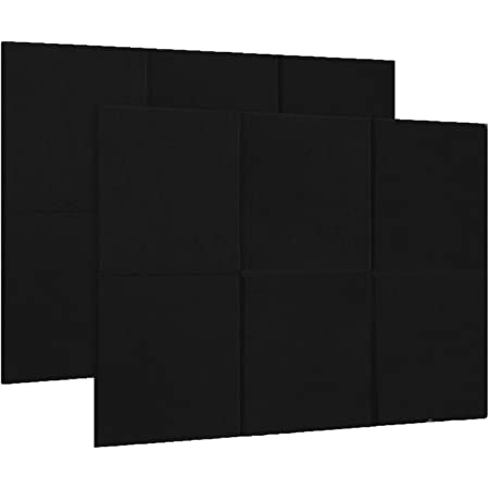 Sound-Absorption Panels 6Pcs Polyurethane High Density Flame Retardant Acoustic Absorption Panel for Noise Reduction Red