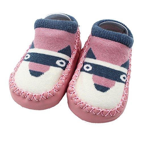 Amlaiworld Cartoon Toddler Enfants Bébé Anti-dérapant Sock Chaussures Bottes Pantoufle Chaussettes pour 0-4Ans