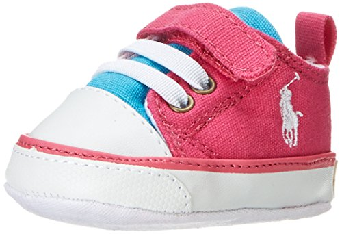 Polo Ralph Lauren Baby Mädchen Carson Ez Layette Krabbel- & Hausschuhe, Pink (Rose/Light Rose/Light Blue), 17 EU