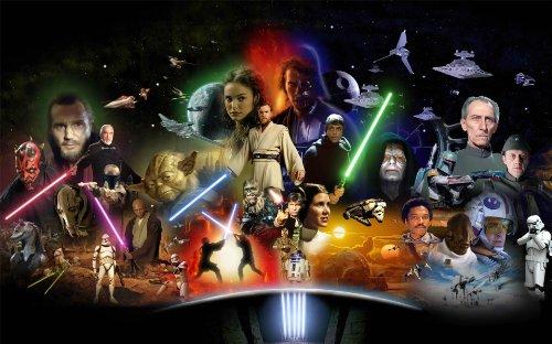 Star Wars-Collagendruck auf Leinwand, gerahmt, 76,2 cm x 50,8 cm
