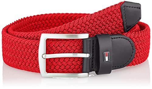 Tommy Hilfiger Denton Elastic 3.5, Cinturón Hombre, Rojo Primario, 100 cm