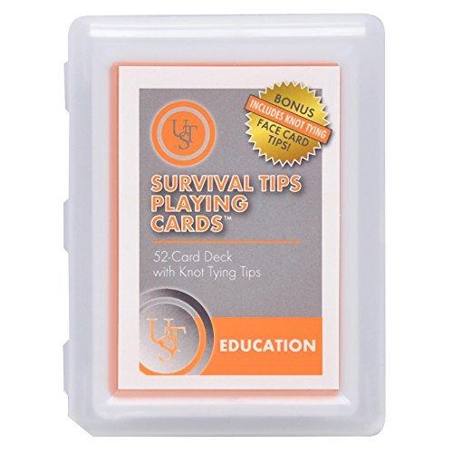 UST Learn & Live Educational Card Set, 52 card deck, Surival Tips
