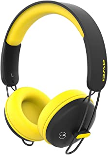 Wireless Bluetooth Headphones Foldable Bluetooth Headset Portable Bluetooth Earphone Deep Bass Noise Cancelling, with Mic for Home Office Online Class Travel Cellphone PC TV,Yellow