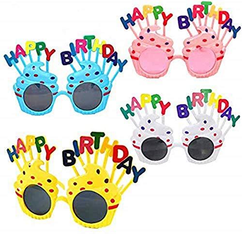 DIFIER Lustige Geburtstagsbrille, kann als Party, Party, Weihnachten, Halloween, Familie Foto verwendet Werden (B)