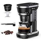 Sboly Grind and Brew Automatic Coffee Machine, Single Cup Coffee Maker with a 12oz Glass Coffee Pot and Built-in Coffee Grinder, Black (Renewed)