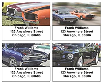Muscle Cars Address Labels