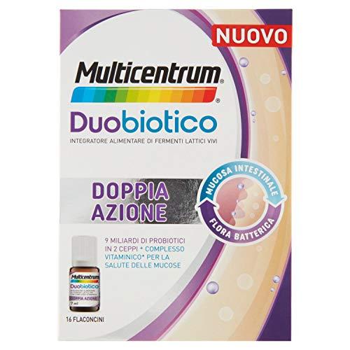 MULTICENTRUM Integratore Alimentare Duobiotico, 16 Flaconcini