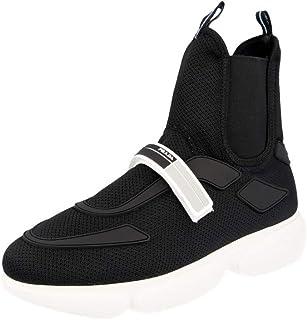 Prada Donna Cloudbust Hi-Top Sneaker in Tessuto Tecnico Nero