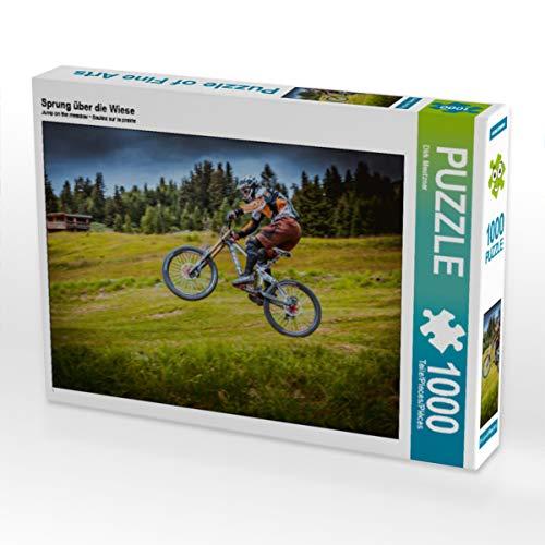 CALVENDO Puzzle Sprung über die Wiese 1000 Teile Lege-Größe 64 x 48 cm Foto-Puzzle Bild von Dirk Meutzner