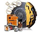 Foliatec - 2165 - Kit peinture étriers de freins - Or (gold metallic)