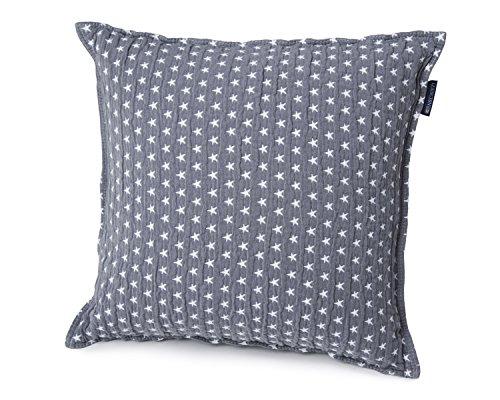 Lexington - Kissenhülle, Kissen, Zierkissen - Star Sham - Farbe: Grau - 50 x 50 cm - Baumwolle - ohne Füllung