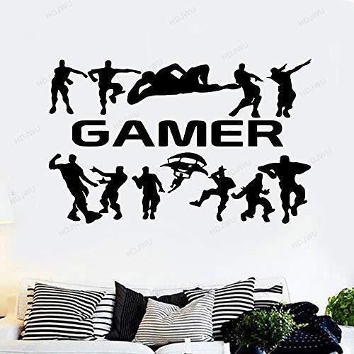 Gamer Gaming Poster Etiqueta De La Pared Pegatinas De Habitación Para Niños Gamers Niños Dormitorio Vinilo Tatuajes De Pared Papel Pintado Pegatinas M 30Cm X 45Cm Negro