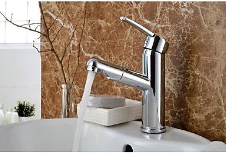 SEBAS Home Waschtischarmatur Massivem Messing Chrom Einhand-Einlochmontage Heies und kaltes Wasser Waschbecken Wasserhahn 2503 Bad Wasserhahn Becken Mischbatterie