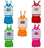 100% Premium Rich Cotton High Bright Contrast Color Schemes Apted For Born Babies Attractive Minimal Prining Self Design Knoted Straps for Easy to Wear Matching Trousers with Smooth and Itch Free Fabric
