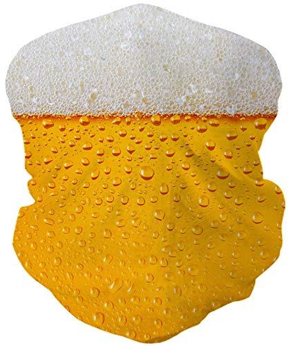 ALISISTER Bier Multifunktionstuch Nahtloses Halstuch Schlauchtuch Schal 3D Druck Kopftuch Stirnband Motorrad Outdoor Halbes Bandana