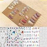 WZHrb Pegatinas de la uña del arco de la cinta for la decoración del arte Controladores de adhesivos multicolor Los accesorios de manicura 6