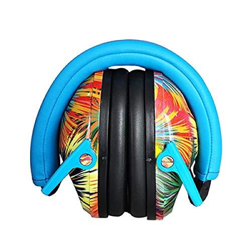 SFBBBO Auriculares Orejera Protección auditiva para niños Orejeras de Seguridad Protector de Cabeza Auriculares insonorizados Azul