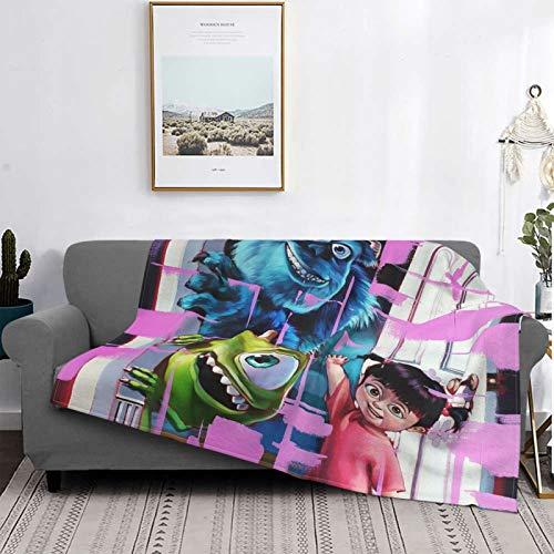 Monster University - Manta de cama premium, manta de sofá para sofá, manta para sala de estar, manta cálida de franela suave, 125 x 150 cm