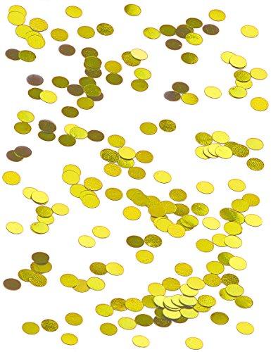 Generique - Confettis de Table Ronds dorés