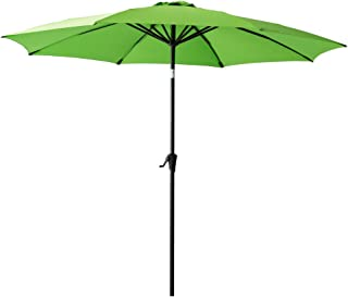 FLAME&SHADE 11' Outdoor Patio Market Umbrella with Tilt for Outside Balcony Table Large Deck or Backyard, Apple Green