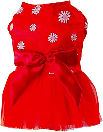 48495f1e003 Norbi Pet Dog Puppy Bow Rhinestone Princess Lace Tutu Dress Clothes