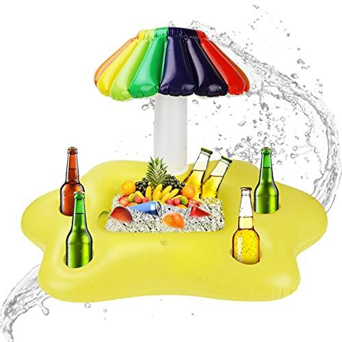 Gonfiabile colorato per ombrellone Portabibite Galleggiante per galleggianti per Piscina Insalata di Bevande Servire la Frutta Accessori per Feste da Spiaggia Portabottiglie per Tazze da Spiaggia