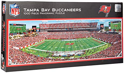 MasterPieces NFL Tampa Bay Buccaneers Stadium Panoramic Jigsaw Puzzle, 1000 Pieces