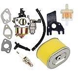 OxoxO Reemplazo Carburador con Filtro de Combustible Filtro de Aire Bujía Plug para Gx140 Gx160 Gx200 5.5hp 6.5hp Motor Generador de Césped Motor Cortacésped Motor Item Name (aka Title)