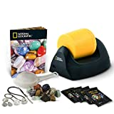 NATIONAL GEOGRAPHIC Starter Rock Tumbler Kit-Includes Rough Gemstones, 4 Polishing Grits, Jewelry Fastenings & Detailed Learning Guide - Great Stem Science Kit For Mineralogy & Geology Enthusiasts