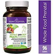 New Chapter Perfect Prenatal Vitamins, 96 ct, Organic Non-GMO Ingredients - Eases Morning Sickness with Ginger, Best Prenatal Vitamins Fermented with Wholefoods for Mom & Baby - (Packaging May Vary)