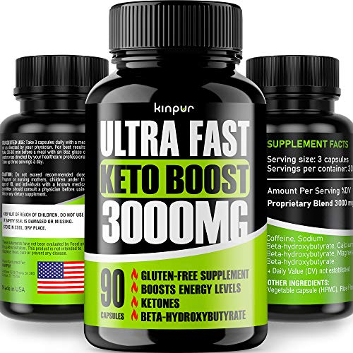 Diet Pills Keto Boost 3,000Mg - Best Keto Burner for Men & Women that Works Fast - Thermogenic Weight Loss with Exogenous BHB Ketones for Night Time Burning - Hardcore Energy Booster