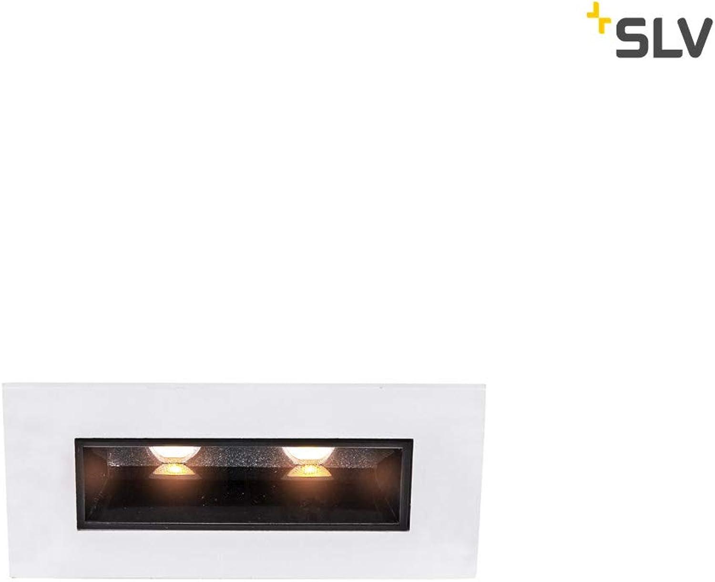 SLV MILANDO DL, LED Indoor Deckeneinbauleuchte, schwarz wei, 3000K, 330lm Leuchte, Metall, 0 W