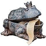 JSZMD Jardin Grenouille Statue, résine Toad Boîte de Rangement, Brun Naturel, 9,1 x 7,5 x 5,9 Pouces