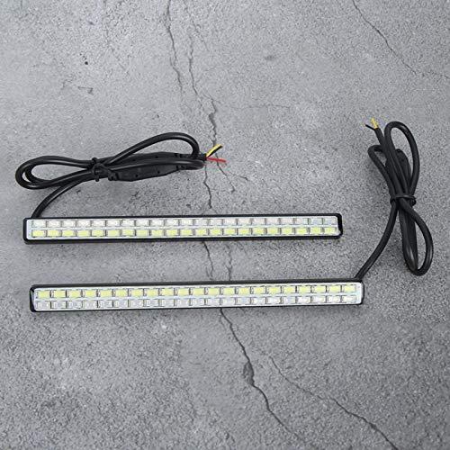 Lámpara de conducción duradera a prueba de agua Lámpara de circulación diurna Luz de circulación diurna Lámpara auxiliar de coche para coche 2 uds