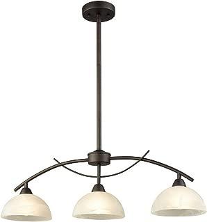 Dazhuan Vintage Frosted Glass Shade Pendant 3-Lights Chandelier Hanging Ceiling Lighting Fixtures