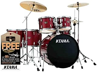 Tama New Imperialstar 22 Inch Bass Drum 6pc Complete Kit (Candy Apple Mist) w/S