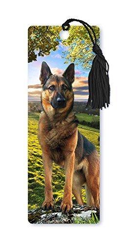Dimension 9 3D Lenticular Bookmark with Tassel, German Shepherd, Pet Breed Series (LBM046) by Dimension