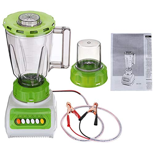 1.5L DC 12V Cars 14x20x24.5cm Removable Juicer Mixer Juice Maker With Mill Jar Coffee Grinder For RV 4 Speed Motor with 6 Button