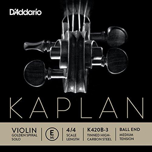 D'Addario K420B-3 Kaplan Violinen Einzelsaite 'E' Verzinnter Kohlefaser-Stahlkern 4/4 Medium
