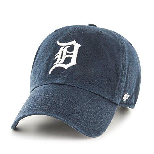 '47 Erwachsene Kappe MLB Detroit Tigers Clean Up, Navy, OSFA, B-RGW09GWS-HM