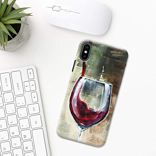 Wein iPhone Hülle XR 11 X XS MAX Pro 8 7 Plus 6 6s 5 5s SE 2020 10 Plastik Silikon Apple iPhone phone case Weinberg winelover Kunst Getränke rot