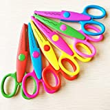 Asian Hobby Crafts 6 in 1 Zigzag Fancy Cuts Craft Scissors for DIY Crafts Project Making,...