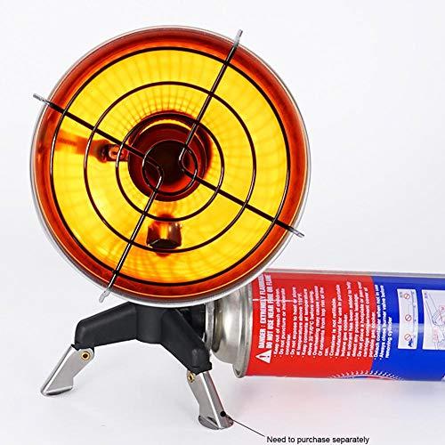 popchilli Draagbare gas kachels, camping gaskachel met 1 kachel, 1 tank bodem en 1 opbergtas, anti-straling en anti-roest
