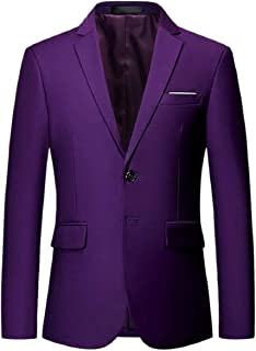 Sodossny-AU Mens Sport Coat Two Button Notched Lapel Business Printing Blazer Jacket
