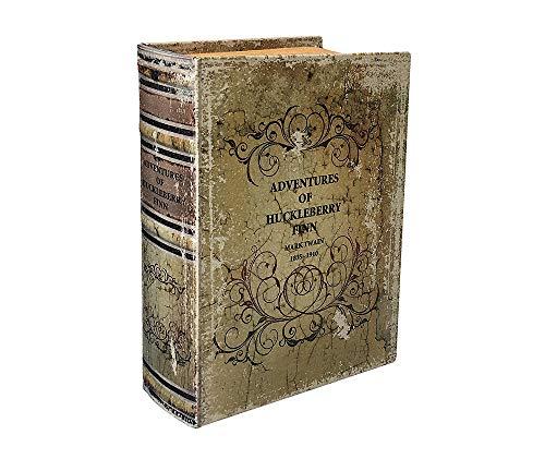 zeitzone Hohles Buch Geheimfach Huckleberry Finn Buchversteck Antik-Stil 27cm