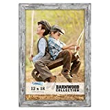 Icona Bay 12x18 Pony Gray Picture Frame, Country Rustic Style 12 x 18 Photo Frame, Wall Mount Only, Barnwood Collection
