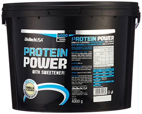 Biotech USA Protein power Vanille, 1er Pack (1 x 4 kg)