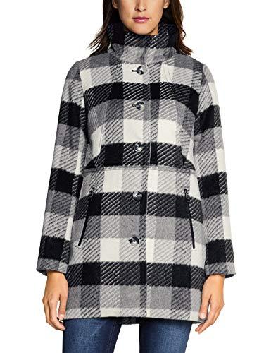 Street One Damen 201372 Mantel, Mehrfarbig (Black 30001), (Herstellergröße:36)