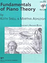 Fundamentals of Piano Theory Teacher's Answer Book: Level Seven